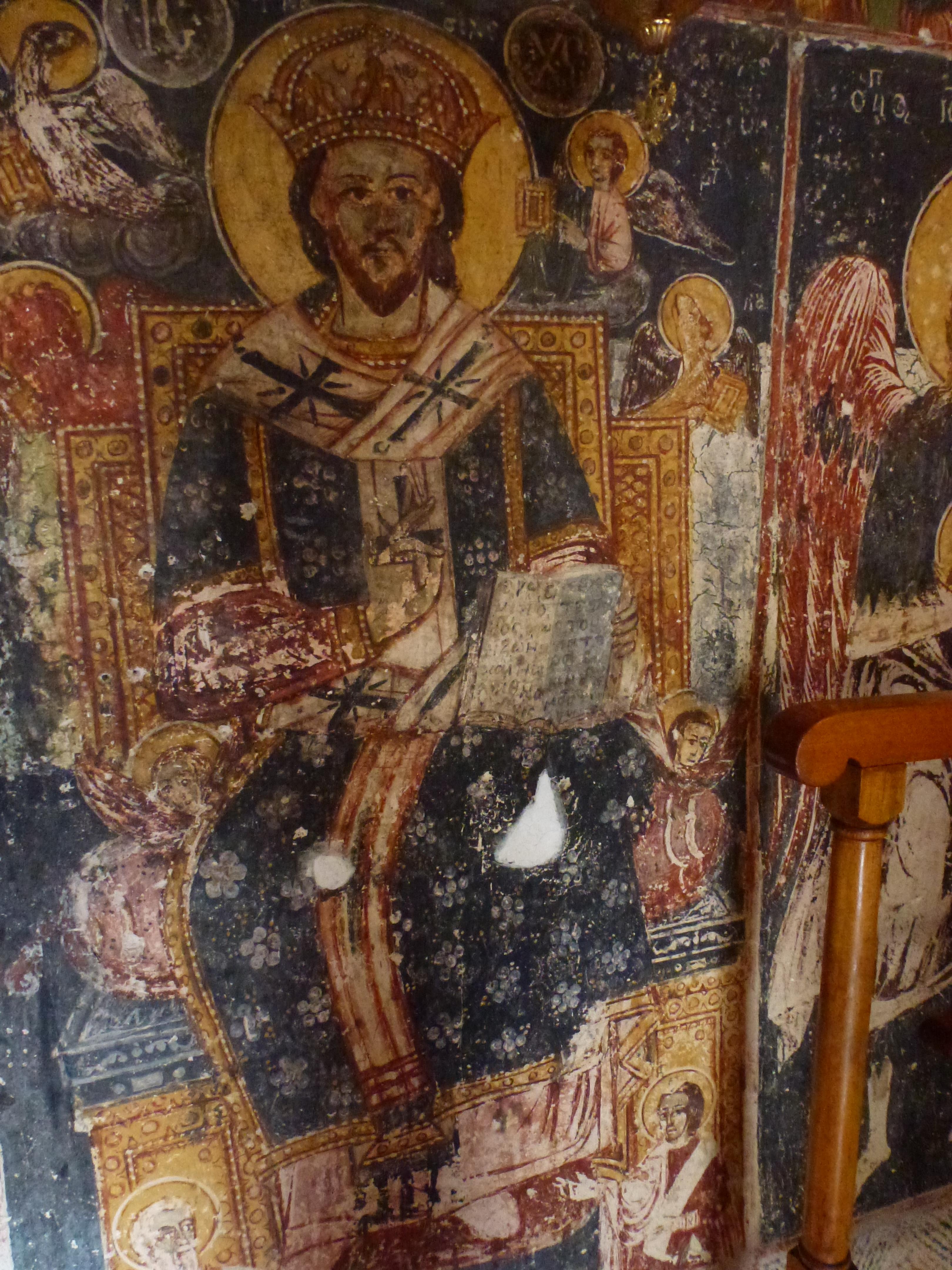 Fresco's inside the church.